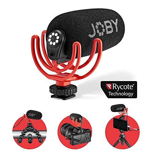 JOBY Microfono Compatto Supercardioide Wavo On-Camera con Supporto Antivibrazione Rycote Duo-Lyre, per Smartphone, Mirrorless, Vlogging, Youtuber, Live Streaming, Content Creators