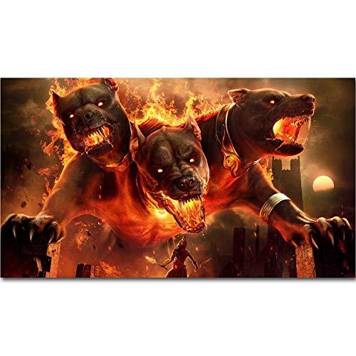 Fotos de Perros malvados de Assassin'S_Puzzle Adulto 1000 Piezas_Diviértete y diviértete con Amigos y Familiares_50x75cm