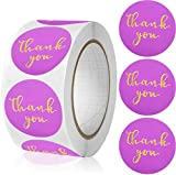 YKHENGTU Thank You Stickers,Foil Thank You Sticker for Small Business,500PCS 1.5inch Thank You Labels for Jewelry Boxes, envelopes, Packing Bags Sealing& Decoration