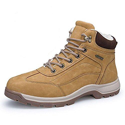 Botas de Nieve Hombre Impermeable Zapatillas Senderismo Calientes Fur Antideslizante Sneakers Negro...