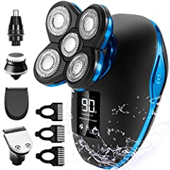 👨🦲Smooth & Closer Shaving: 5d flex heads automatically adapt to the contours of your face, neck and jaw, providing you a comfortable and close shave. 👨🦲Faster Charging & LED Display: 2 hours fully charged and can be used up to 90 minutes. Smart LED...