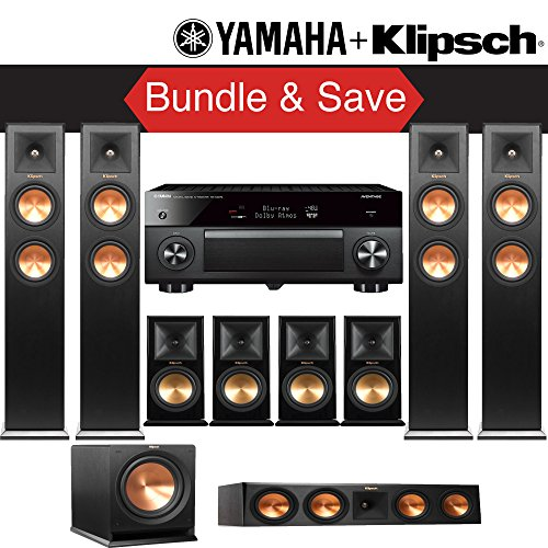 Buy Klipsch RP-280F 9.1-Ch Reference Premiere Home Theater System with Yamaha AVENTAGE RX-A2070BL 9....