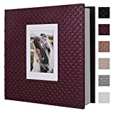 RECUTMS 60 Pages Picture Album Self Adhesive 4x6 5x7 8x10 Leather Cover DIY Magnetic Scrap...