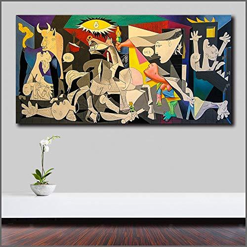 FPUYB Wlong Pablo Picasso Guernica PopLarge Puzzle Puzzle a Juego 1000 Piezas 75x50cmGrande Rompecabezas de Madera Juego de descompresión Regalo de Juguete