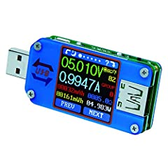 1.44 Inch USB 2.0 Full-Color LCD Display Tester,5-digit High Precision Display, High Resolution,Foreground and background colors are switched alternately , with 64 options to choose.User manual, PC software installation instruction and PC software an...