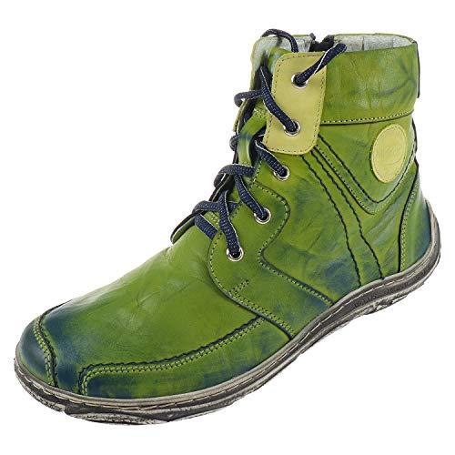 Miccos Shoes Damen Stiefel/Stiefelette Brush-Nappaleder, RV, Warmfutter, herausnehmbare Decksohle, i