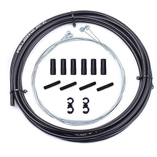 Cable de Cambio de Freno Universal básico cyceharth, Tubos de alojamiento para montaña MTB Road Sram Shimano, Engranaje de Bicicleta, Juego de Cables de Repuesto Delantero Trasero (Brake Cable Kit)