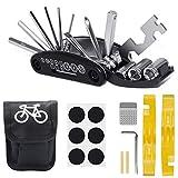 GESTAND Fahrrad Multitools 16-in-1 Fahrrad Reparatur Set Multifunktionswerkzeug mit Satteltasche für Mountainbike und Rennräder