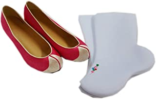 Korean hanbok womans shoes traditional costumes shoes/socks package pink