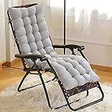 SNAL Cojín de Silla de salón de Patio de 120 cm, Cojines de Interior/Exterior Chaise Lounge Cojín...