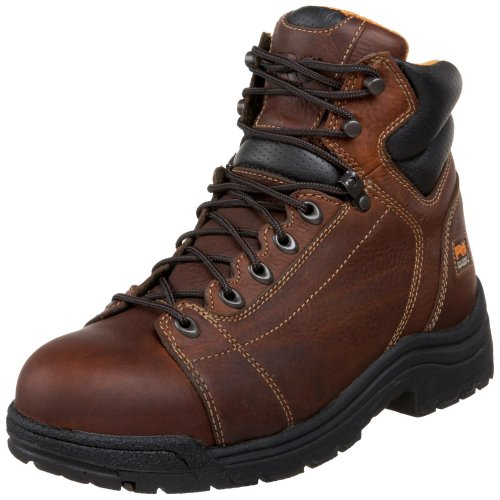 """Timberland PRO Men's 50506 Titan 6"""" Lace to Toe Safety Toe Boot,Haystack Brown,10.5 M"""