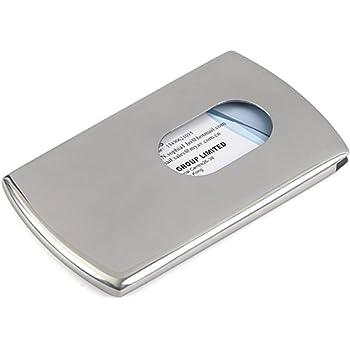 【Hikaru.G】ステンレス製 名刺入れ カードケース 名刺ケース カード入れ スライド式 取り出し簡単 ビジネス 男女兼用 プレゼント