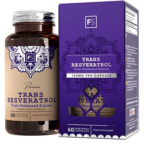 Trans-Resveratrolo 150 mg - 90 Capsule Vegetariane - Potente Antiossidante | SUPPORTO COGNITIVO E PERDITA DI PESO | Salute Metabolica - Focus Supplements - Prodotto in UK in Strutture Autorizzate ISO (1 Bottiglia)