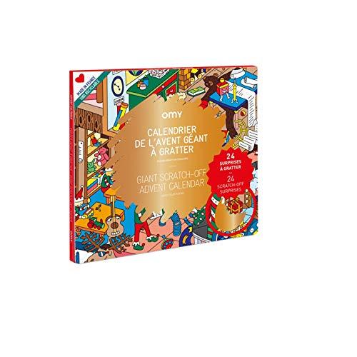 Calendario de Adviento gigante para rascar – 70 x 100 cm
