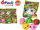 JA-RU Splat Balls (Pack of 6) and 1 Bouncy Ball Item #5303-6p