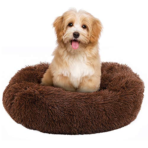 Cozy Round Sofa for Dogs and Cats, Soft Warm Plush Puppy Bed with Premium Quality, Self Warming Mini Medium Sized Cushion, Best friends of Pets Through the Life