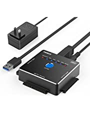FIDECO SATA/IDE 轉換適配器 離線鉻 HDD轉換器 USB3.0硬盤驅動器 2.5/3.5/5.25英寸 SATAI/II/III HDD/SSD對應 附日語使用說明書