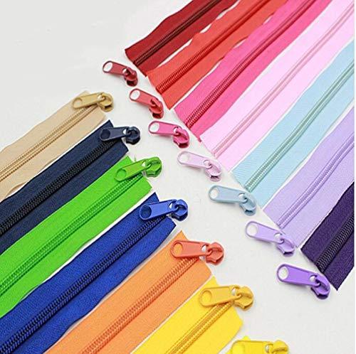 Alipress 5# Cremalleras de bobina de nailon para bolsas de costura DIY Zapatos Accesorios de ropa 10 metros 22 colores disponibles-café oscuro, 5#
