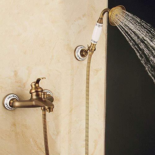 HYY-AA Ducha Sistema, mezclador de la ducha Conjunto de ducha de latón antiguo grifo mezclador de ducha simple Configurar caliente y un mezclador de agua fría for el hogar, oficinas, salas, Café, dorm