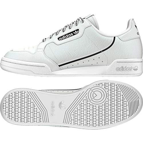 Adidas Continental 80 W, Sneaker Mujer, Blanco/Negro, 37 1/3 EU