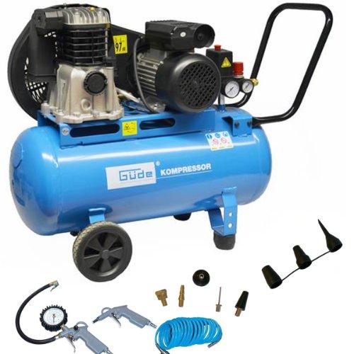 Preisvergleich Produktbild Güde Druckluft Kompressor 335 / 10 / 50 230V inkl. 11 tlg. Set 10Bar