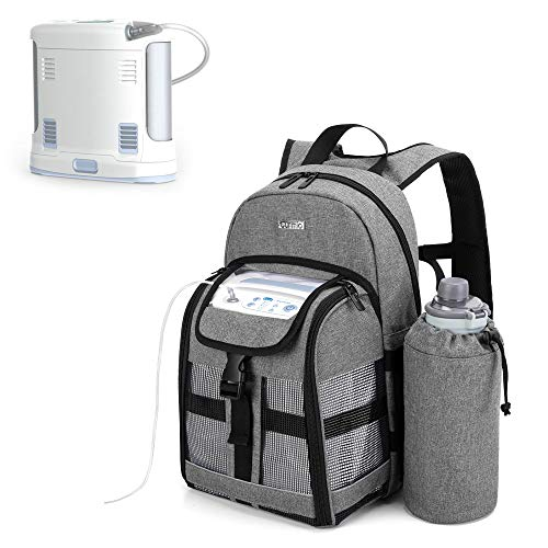 CURMIO Portable Oxygen Concentrator Backpack, POC Carrying Bag Compatible with Inogen, OxyGo and Caire Units, Bag Only, Gray (Patented Design)