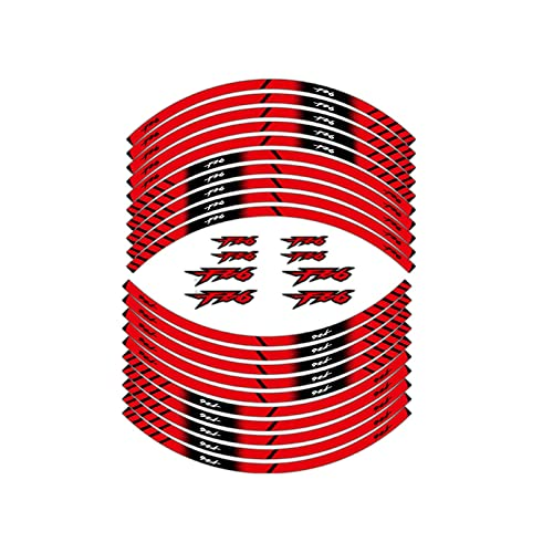 wjyfexble Etiqueta de Rueda Reflectante de la Motocicleta Neumático de la decoración de la decoración de la decoración de la decoración Adhesiva Compatible con Yamaha fz6 WYJHN (Color : 1)