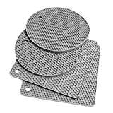 MagiDeal Premium Sottopentola in Silicone Stuoie per Caldo Pentole e Padelle, Mat Asciugatura, Pot Holder Spoon Holder, Antiscivolo e Resistente al Calore