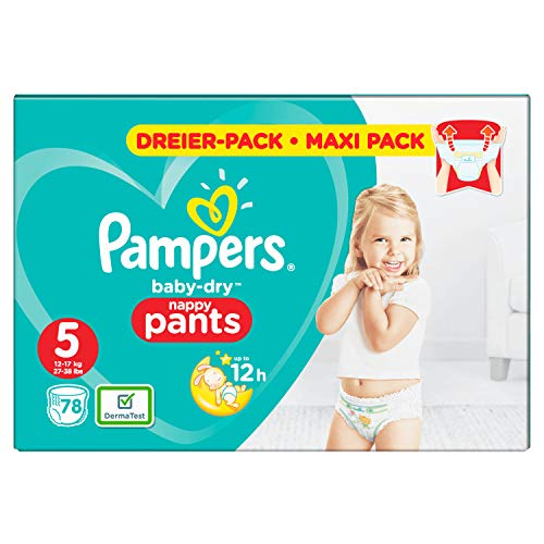 Pampers Baby-Dry Pants, Gr. 5, 12kg-17kg, Dreier-Pack (1 x 78 Windeln)