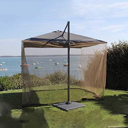 LYYJIAJU Outdoor Mosquito Net Tent Mosquito Netting Outdoor Garden Mosquito Cover Umbrella Table Screen Bug Insect Net Mesh for Parasol a Gazebo