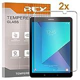 REY 2X Protector de Pantalla para Samsung Galaxy Tab S2 9.7' T813, Cristal Vidrio Templado Premium, Táblet