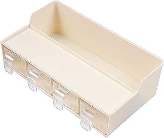 SCDZS Boîte de rangement multifonctionnelle de cuisine 4 grille transparente avec boîte d'assaisonnement cuillère ensemble...