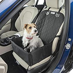 ALL PURPOSE QUILTED COMFORT FOR YOUR DOG – A smart 2-in-1 dog car seat cover that creates a small basket or folds down for front seat coverage it's perfect for every day travels. Ideal for smaller dogs, the extra padding helps support pets when they'...