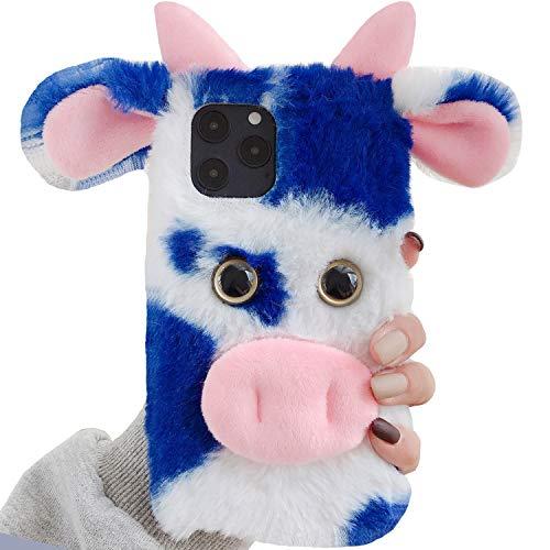 TAITOU - Funda para Motorola G5 (hecha a mano, con diseño de cabeza de vaca, suave, ligera, delgada, protección para Motorola G5, color azul