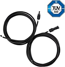 Renogy One Pair of 10ft. 10AWG Adaptor Kit Solar Cable PV with MC4 Female and Male Connectors — Connect Solar Panel and Charge Controller
