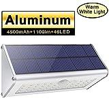 Licwhi Lampe Solaire Exterieur Puissante 46LED Alliage D'aluminium,Projecteur LED Exterieur Avec...