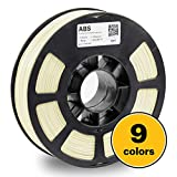 KODAK ABS Filament 1.75mm for 3D Printer, White, Dimensional Accuracy +/- 0.03mm, 750g Spool (1.7lbs), ABS Filament 1.75 Used as 3D Printer Filament to Refill Most FDM Printers