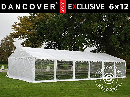 Dancover Partytent Exclusive 6x12m PVC, Wit, Panorama