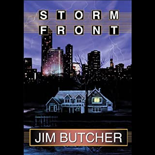 Storm Front     The Dresden Files, Book 1              By:                                                                                                                                 Jim Butcher                               Narrated by:                                                                                                                                 James Marsters                      Length: 8 hrs and 1 min     3,098 ratings     Overall 4.4