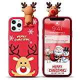 Yoedge Funda para Apple iPhone 6 Plus / 6s Plus 5,5',Navidad Carcasa Silicona Rojo con Dibujos Animados 3D Doll Ciervo Toy,Suave Fina Antigolpes TPU Protector Case Cover para iPhone 6S Plus,Ciervo 6