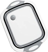 Planche à Découper Pliable multifonctions de cuisine en plastique silicone vaisselle Baignoire de lavage et de fruits drai...