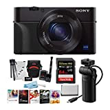 Sony DSCRX100M5A RX100M5A with Sony VCT-SGR1 Shooting Grip and Tripod, Sony AGR2 Grip & 64GB, 2 Extra Battery Premium Accessory Bundle