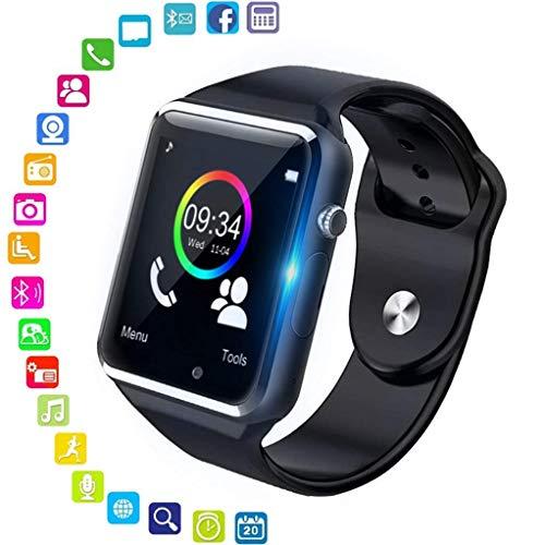 Smartwatch Android iOS Smart Watch Telefono Touch con SIM Slot Notifiche per iPhone Samsung Hawei Xiaomi Orologio Braccialetto Fitness Activity Tracker Donna Uomo Bambini Contapassi Calorie (Nero)
