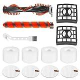 Piezas de repuesto para aspiradoras verticales Shark NV800, NV800W, NV801, NV801Q accesorios de repuesto de aspiradora (1 juego de cepillo de rodillo+2 filtros HEPA+4 filtros de espuma y fieltro)