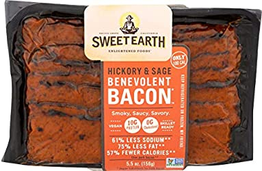 Sweet Earth Benevolent Bacon, Hickory and Sage Plant Based Protein, 0.34375 lb