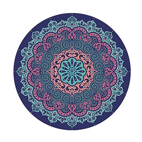 Meditatie Mat Ronde,Yogamat Antislip Bedrukt Slijtvast Scheurvast Lichtgewicht Draagbaar Voor Deurmat Pilates Mat Fitnessmat
