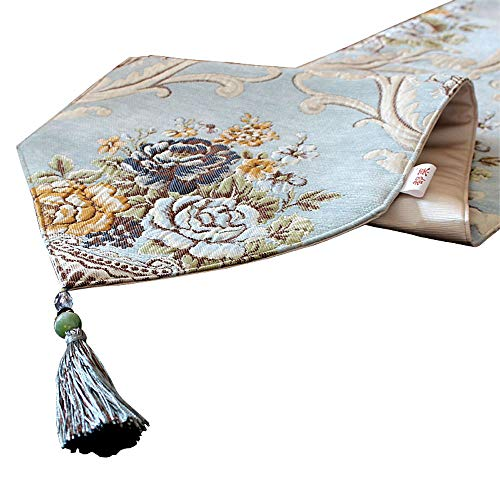 BLWX - Tafelloper - Europees tafelkleed tafelkleed tv-meubel decoratieve doek bed vlag bed sjaal luxe restaurant tafel lang tafelkleed (3 grootte) tafelvlag