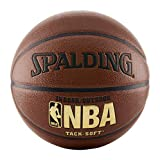 Spalding NBA Tack Soft Indoor-Outdoor Basketball, Brown, Official Size 7 (29.5') - New
