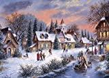 CHengQiSM Puzzle 1000 Pezzi, Puzzle per Adulti Jigsaw Puzzle per Calda notte d'inverno Puz...