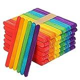 Palitos de madera,Popsicle,Palitos De Madera Manualidades,Palitos De Madera Helado,palos de helados de madera (300PCS) (Colorear)